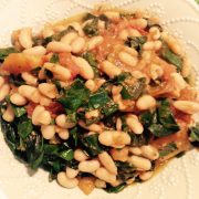 Collard Greens with White Beans and Tomatoes