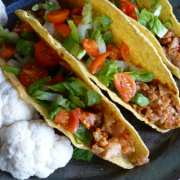 Tacos with Seasoned Cauliflower