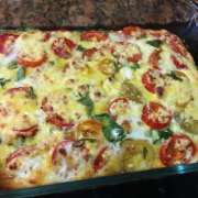 Frittata with spinach and tomatoes
