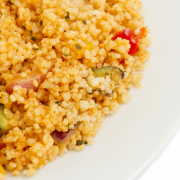 Sautéed Zuchinni and Bell Pepper Cous Cous