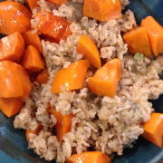 Oatmeal With Chia Seeds and Persimmons