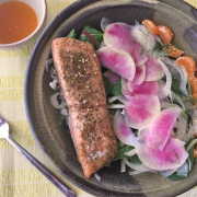 Salmon and Quinoa Bowl with Fennel and Citrus