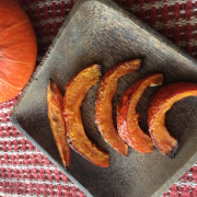 Roasted Kabocha Squash Wedges