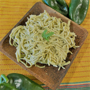Espeghetti Verde with Poblano Peppers