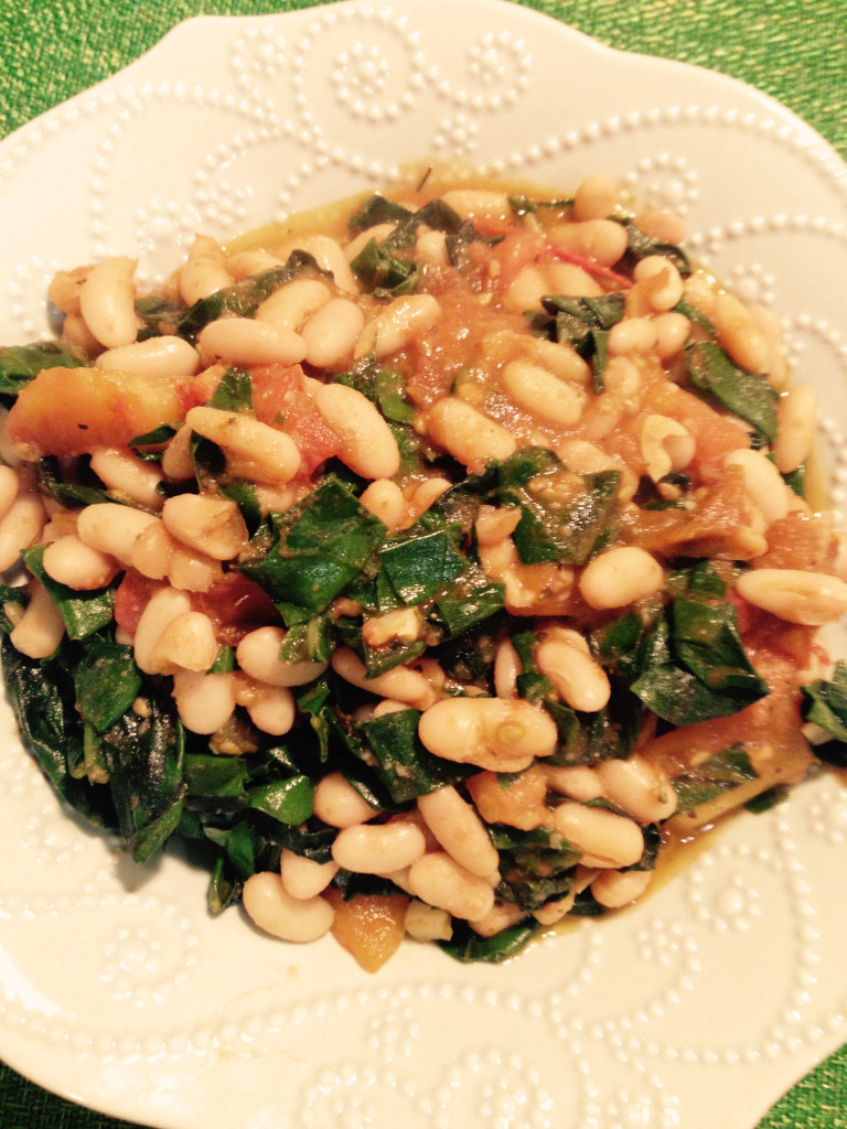 Greens with White Beans and Tomatoes