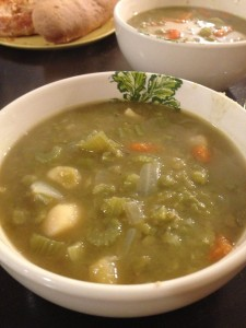 Split Pea Soup with Parsnips, Carrots, and Celery