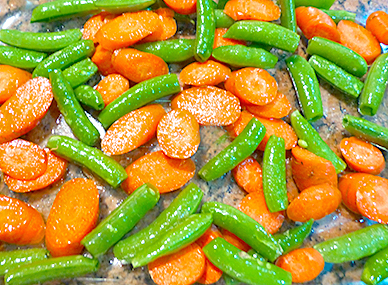 Roasted Snap Peas and Carrots