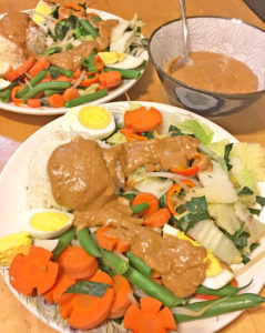Gado Gado- Indonesian Blanched Veggies with Peanut Sauce
