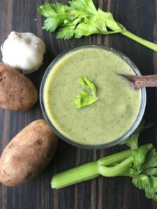 Cream of Celery Soup (vegan)