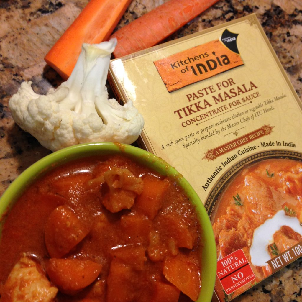 Slowcooker TIkka Masala with Carrots and Cauliflower