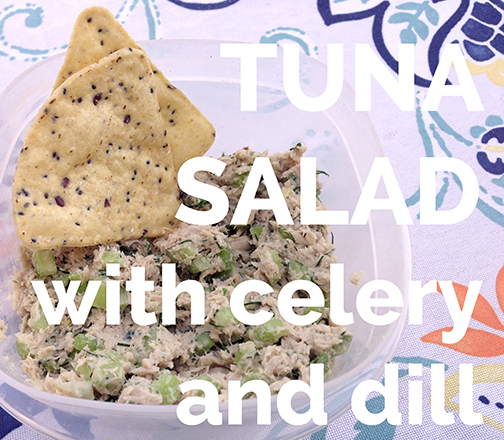 Tuna Salad with Celery and Dill