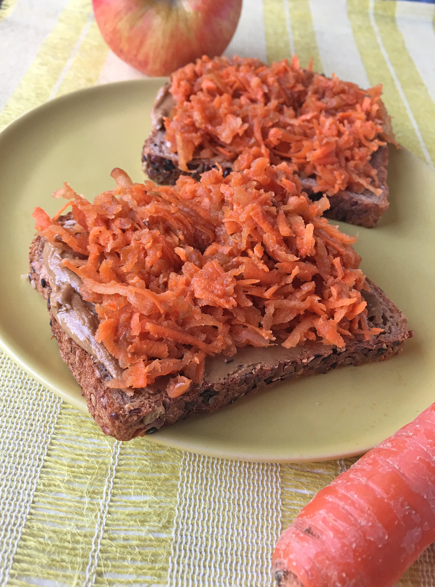Carrot and Apple Breakfast Toast