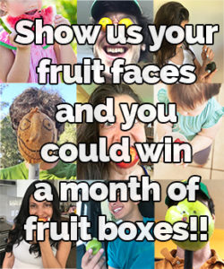 Show us your #HappyFruit Face and Enter to Win a MONTH of free boxes!