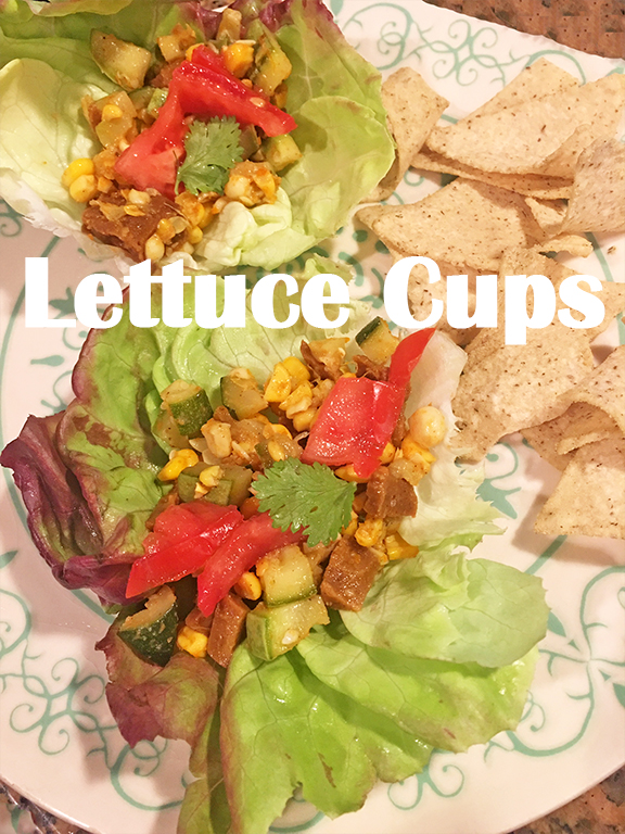 Lettuce Cups with Corn Succotash