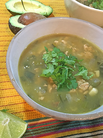 White Bean Chile With Tomatillos